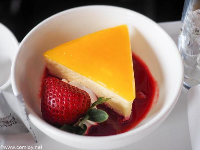 マレーシア航空 MH923 クアラルンプール - ジャカルタ ビジネスクラス機内食 Desserts Raspberry sauce