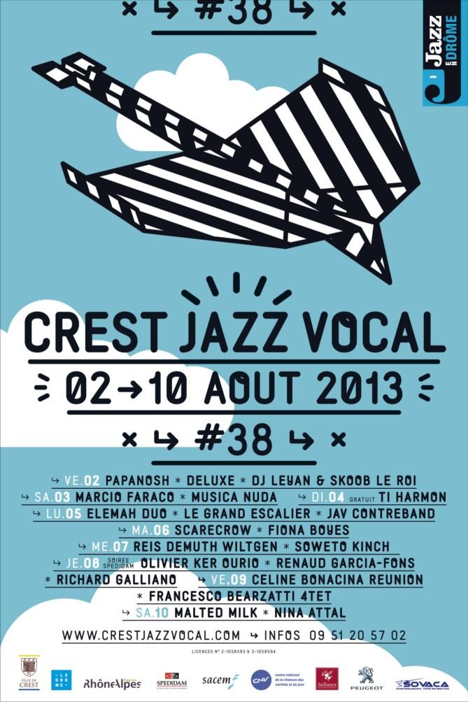 Affiche Crest Jazz Vocal 2013