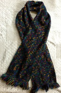 A scarf knitted by Ms. La Galbo