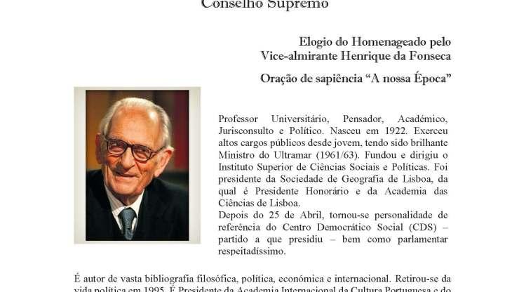 Homenagem ao Dr. Adriano Moreira