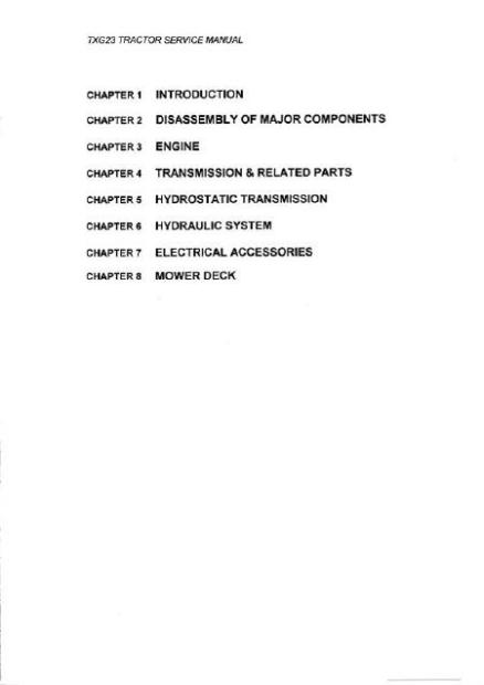 Iseki TXG 23 manuel de service anglais