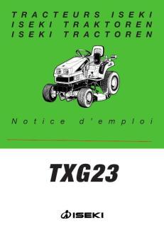 Mode d'emploi Iseki TXG23