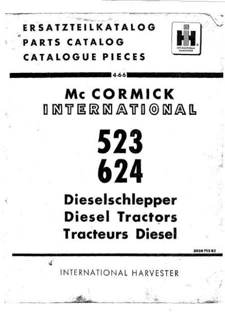McCormick 523 624 Manuel des pièces