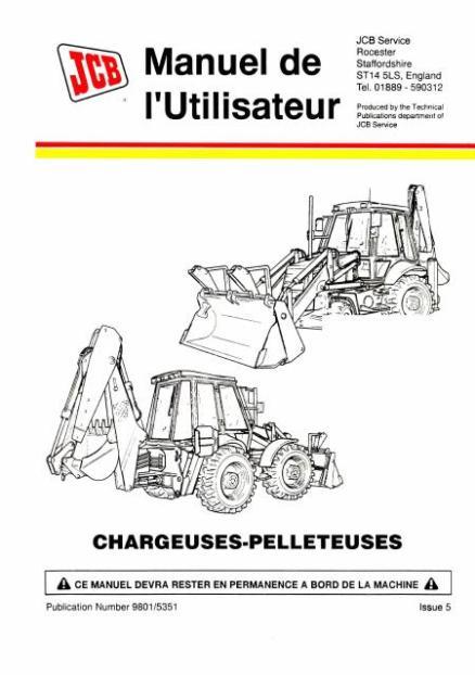 JCB 3CX 4CX manuel utilisateur Français