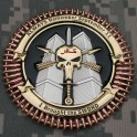 TF Dagger Commemorative Challenge Coin - Version 3: Reverse