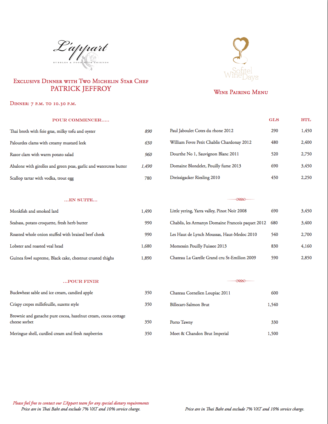 Four Evenings Of Magnifique Two Michelin Star Dining