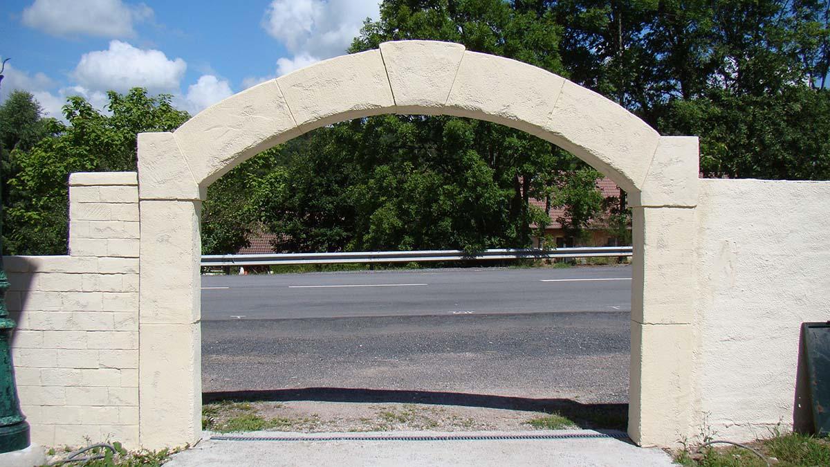 creation d'une arche en pierre pour portail