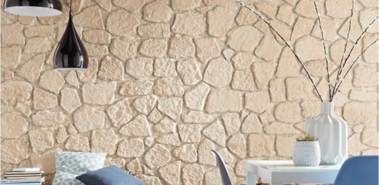 Pose de pierre de parement reconstituée