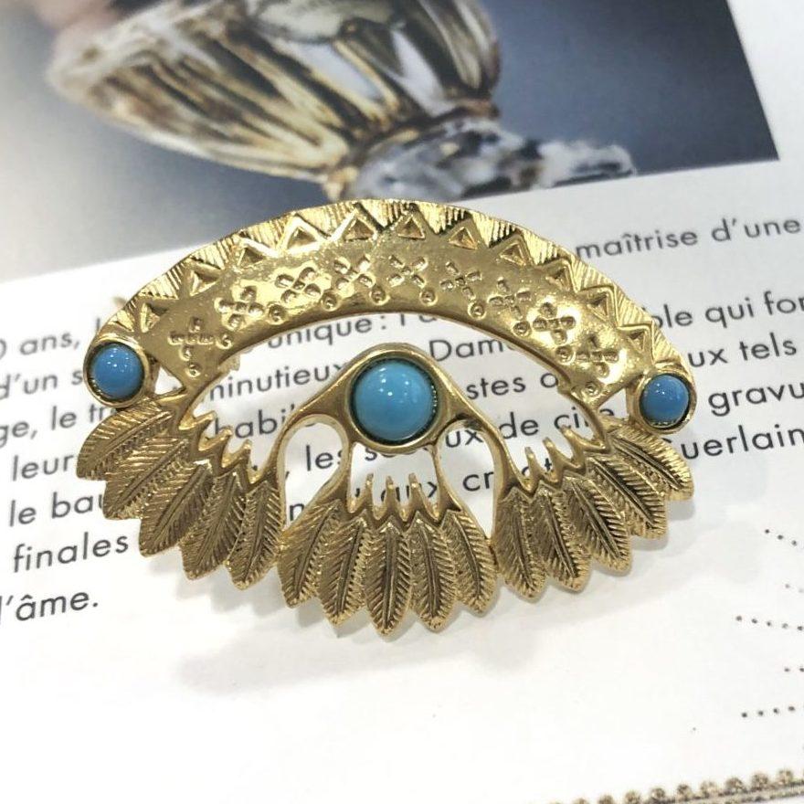 20294 dore cabochon turquoise