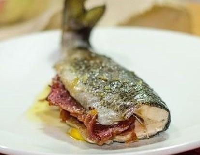 Trucha con jamón al horno 2