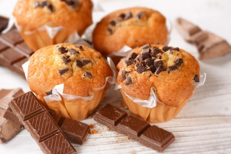 Magdalenas con trocitos de chocolate 1