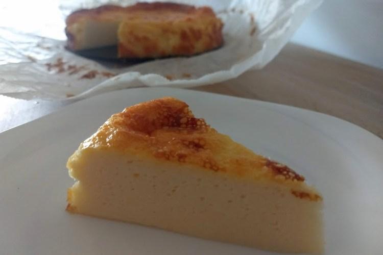 Tarta de queso porción