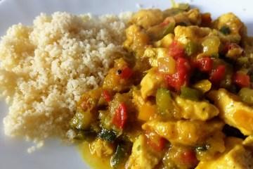 Pollo al curry con verduras 1