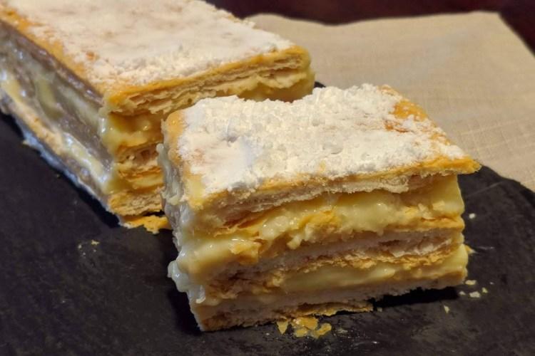 Milhojas de crema pastelera 1