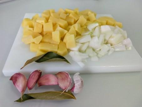 Patatas y cebolla