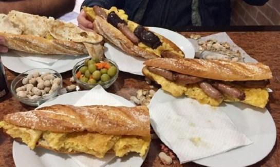 Almuerzo típico Valenciano