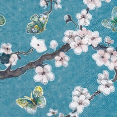 papillon cerisier amour hokusai meditation