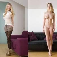 Photos de femmes nues et habillées