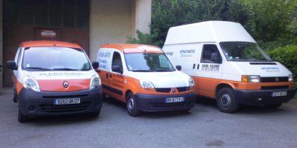 faure plomberie cheylard véhicules