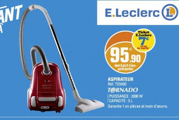 L hypermarché se spécialise avec des produits comme l aspirateur Leclerc