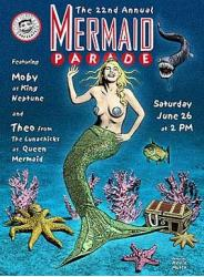 Vintage Mermaid Parade Poster