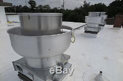restaurant hood upblast exhaust fan 600 1000 cfm 11 75 wheel 21 base