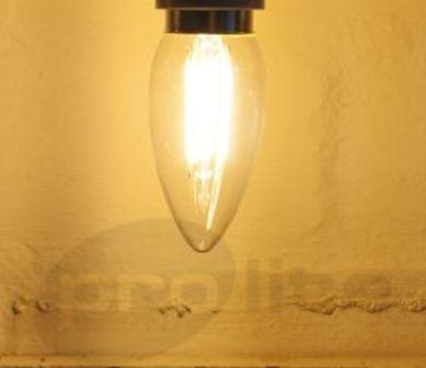 Filament candle lit