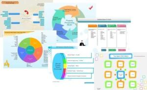 graphs and diagrams of commercial real estate agency