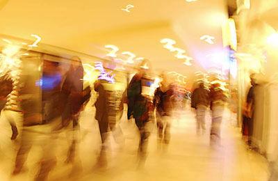 people walking in shopping center