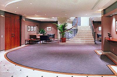 inside office building foyer