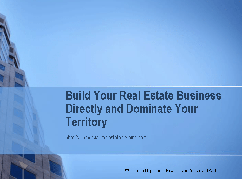 client report for commercial real estate brokers