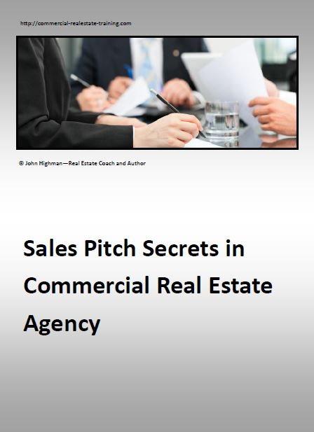 report on sales pitching in commercial property