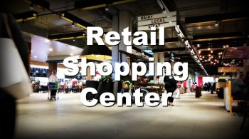 shopping mall and modern shops