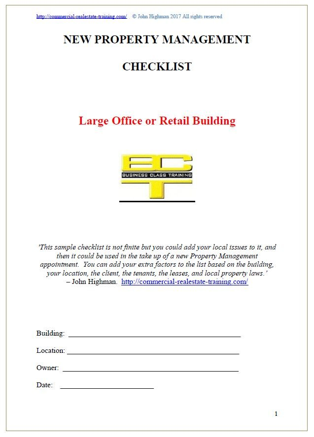 commercial property management form