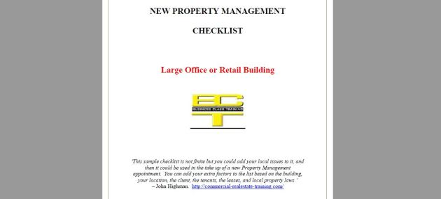 property management handover checklist