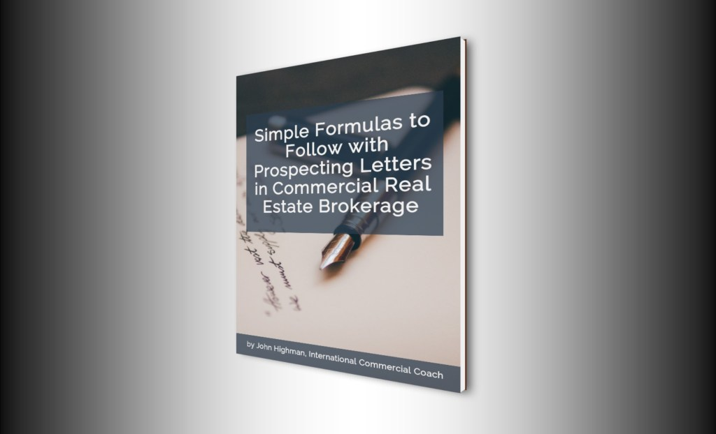 ebook cover on prospecting letters in commercial real estate