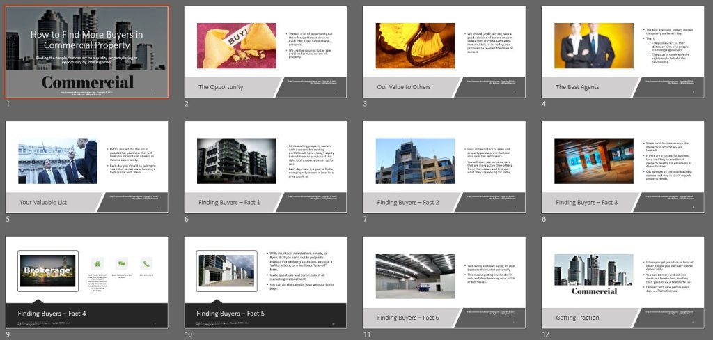 series of commercial property slides