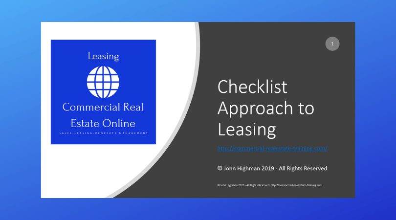 checklist for leasing