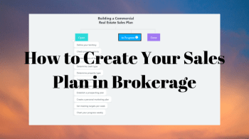sales plan structure for commercial real estate brokers