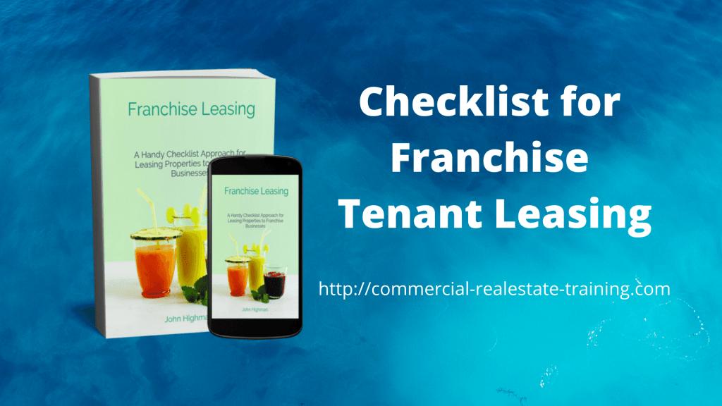 franchise tenant leasing checklist book