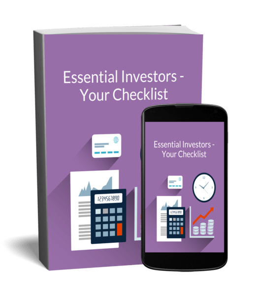 property investor checklist on book cover and iphone