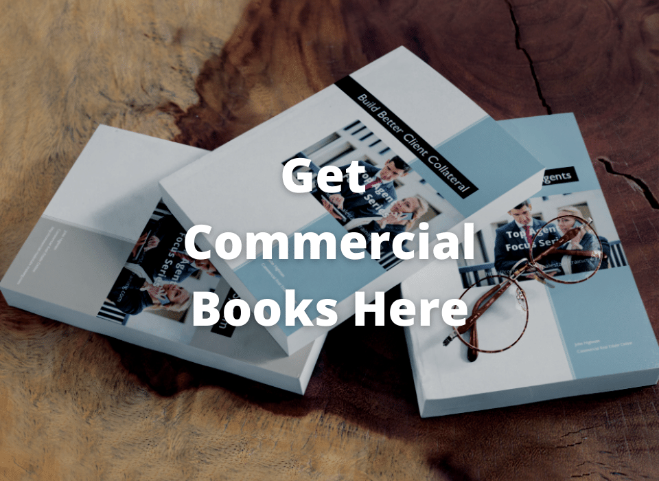 commercial real estate books on table