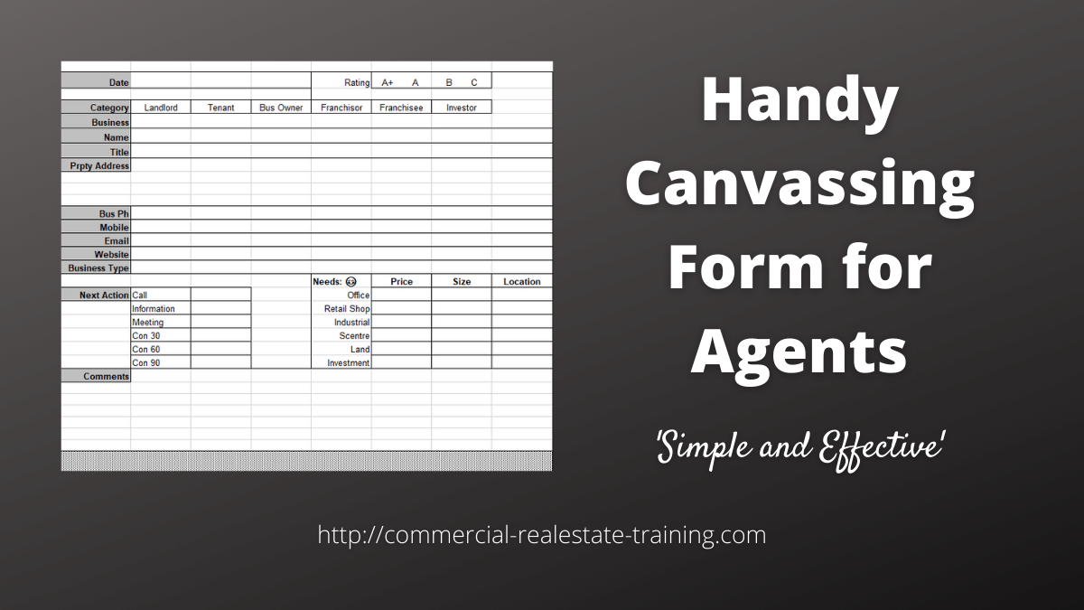 contact form for real estate canvassing