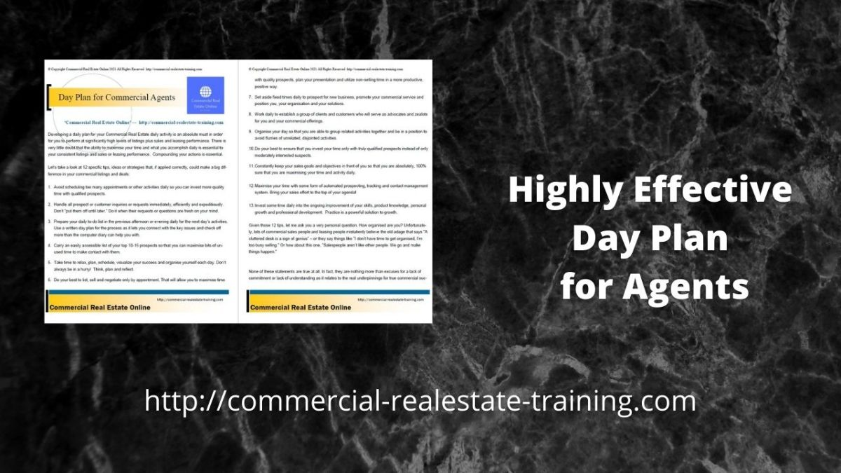 real estate agent day planner