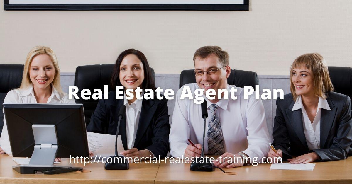 real estate team sitting at desk