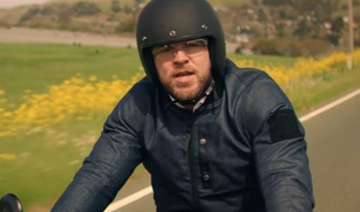Geico Groom On Motorcycle Singing