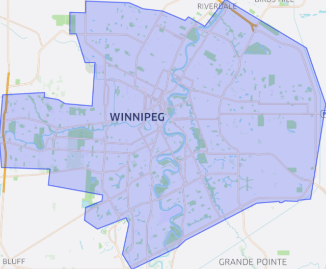 ubereats winnipeg map