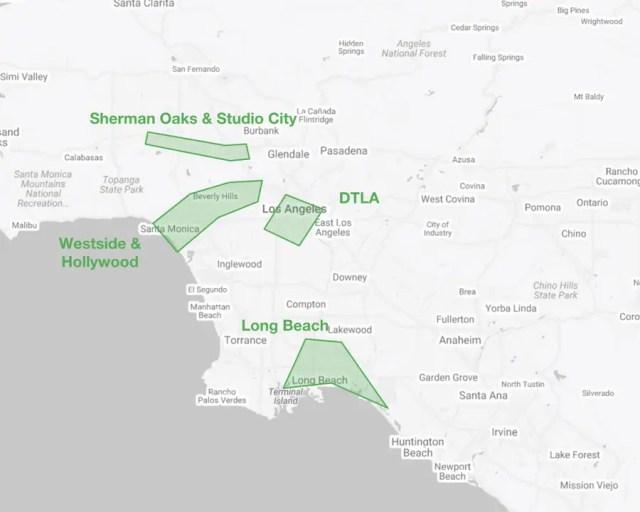 Busiest Areas Los Angeles