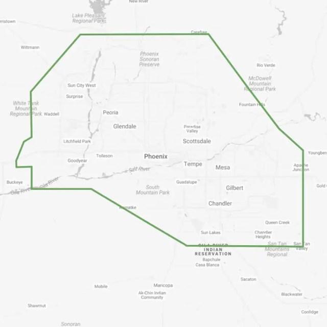 Delivery Area Phoenix