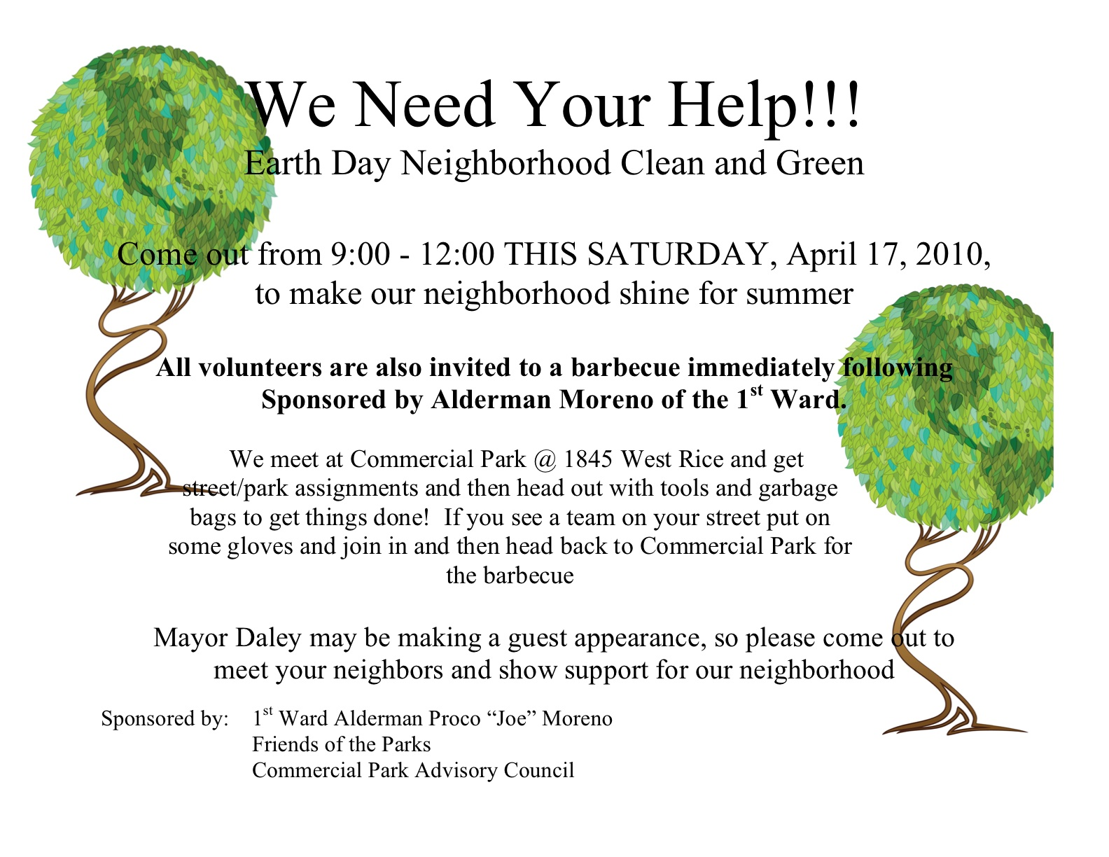 Earth Day Neighborhood Clean And Green